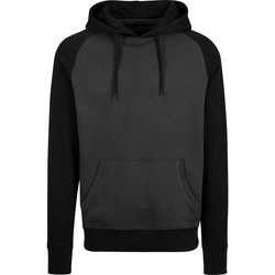 textil Herre Sweatshirts Build Your Brand BY077 Charcoal/Black