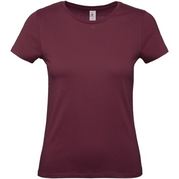 textil Dame T-shirts m. korte ærmer B And C B210F Burgundy