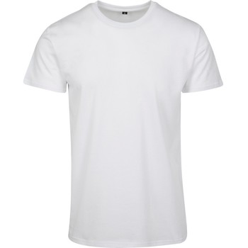 textil Herre T-shirts m. korte ærmer Build Your Brand BY090 White