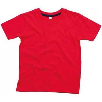 textil Børn T-shirts m. korte ærmer Babybugz BZ090 Red/Navy