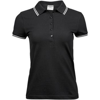 textil Dame Polo-t-shirts m. korte ærmer Tee Jays TJ1408 Black/White