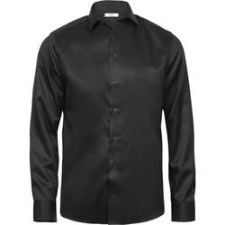 textil Herre Skjorter m. lange ærmer Tee Jays TJ4020 Black