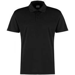 textil Herre Polo-t-shirts m. korte ærmer Kustom Kit KK455 Black
