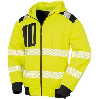 textil Herre Sweatshirts Result Genuine Recycled R503X Fluorescent Yellow