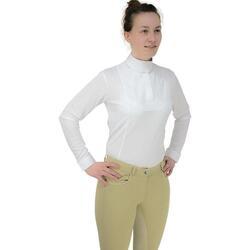 textil Dame Langærmede T-shirts Hyfashion  White
