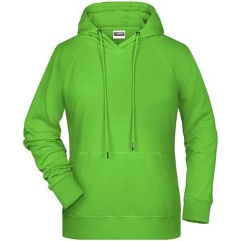 textil Dame Sweatshirts James And Nicholson  Lime Green