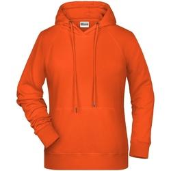 textil Dame Sweatshirts James And Nicholson  Orange