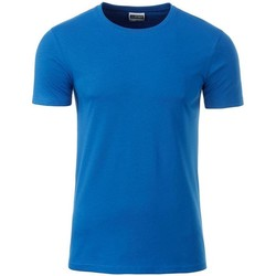 textil Herre T-shirts m. korte ærmer James And Nicholson  Cobalt Blue