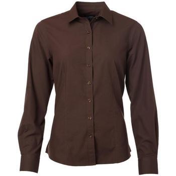 textil Dame Skjorter / Skjortebluser James And Nicholson  Brown