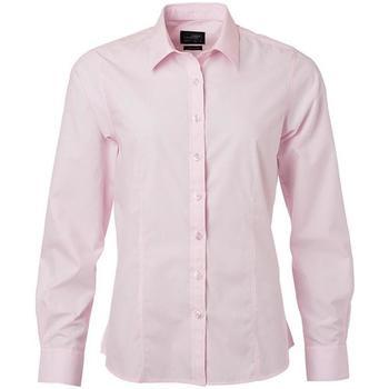 textil Dame Skjorter / Skjortebluser James And Nicholson  Light Pink