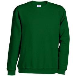 textil Sweatshirts James And Nicholson  Dark Green