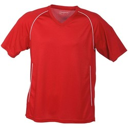 textil T-shirts m. korte ærmer James And Nicholson  Red/White