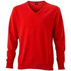 textil Herre Sweatshirts James And Nicholson  Dark Orange