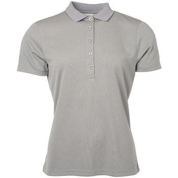 textil Dame Polo-t-shirts m. korte ærmer James And Nicholson  Light Grey Melange