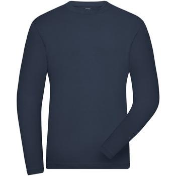 textil Herre Sweatshirts James And Nicholson  Navy