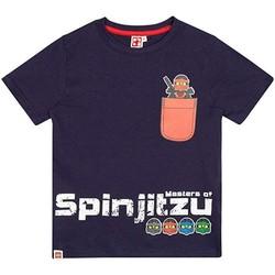 textil Dreng T-shirts m. korte ærmer Lego  Navy