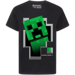 textil Dreng T-shirts m. korte ærmer Minecraft  Black