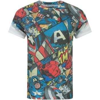 textil Herre T-shirts m. korte ærmer Captain America  Multicoloured