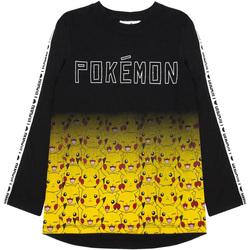 textil Dreng Langærmede T-shirts Pokemon  Black/Yellow