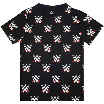 textil Dreng T-shirts m. korte ærmer Wwe  Black