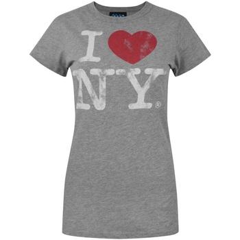 textil Dame T-shirts m. korte ærmer Junk Food  Grey