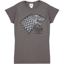 textil Dame T-shirts m. korte ærmer Game Of Thrones  Grey