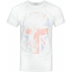 textil Herre T-shirts m. korte ærmer Junk Food  White/Red/Blue
