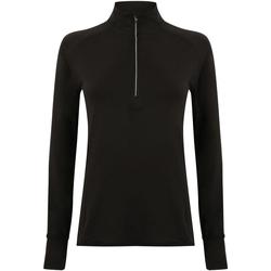 textil Dame Langærmede T-shirts Tombo TL563 Black