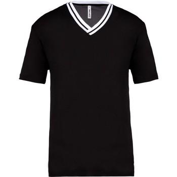 textil T-shirts & poloer Proact PA4005 Black/White