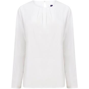 textil Dame Langærmede T-shirts Henbury HB598 White