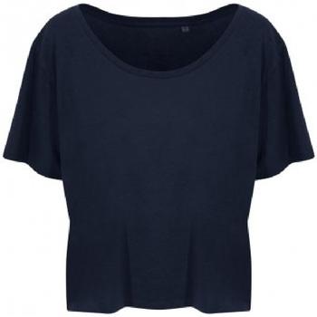 textil Dame T-shirts m. korte ærmer Ecologie EA002F Navy