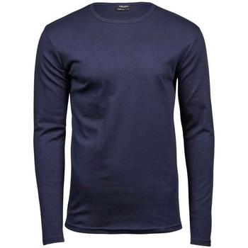 textil Herre Langærmede T-shirts Tee Jays T530 Navy