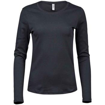 textil Dame Langærmede T-shirts Tee Jays T590 Dark Grey