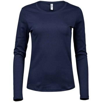 textil Dame Langærmede T-shirts Tee Jays T590 Navy