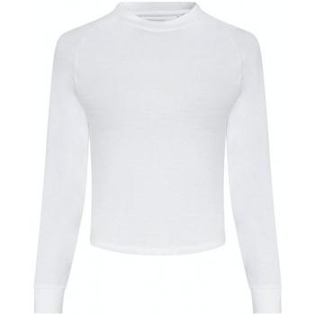 textil Dame Langærmede T-shirts Awdis JC116 Arctic White