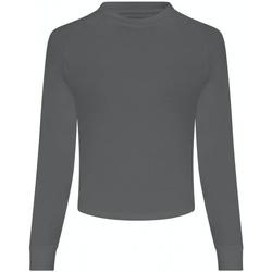 textil Dame Langærmede T-shirts Awdis JC116 Iron Grey