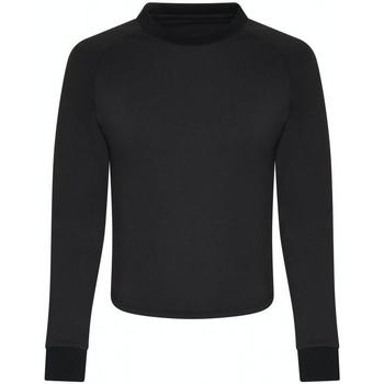 textil Dame Langærmede T-shirts Awdis JC116 Jet Black