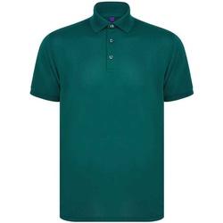 textil Herre Polo-t-shirts m. korte ærmer Henbury H465 Bottle Green