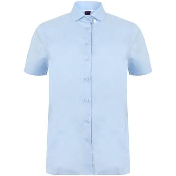 textil Dame Skjorter / Skjortebluser Henbury HB538 Light Blue