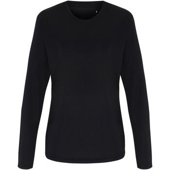 textil Dame Langærmede T-shirts Tridri TR060 Black