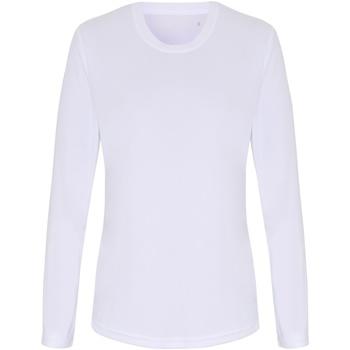 textil Dame Langærmede T-shirts Tridri TR060 White