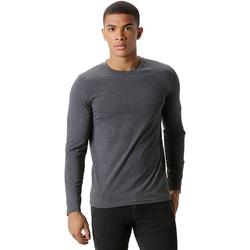 textil Herre Langærmede T-shirts Kustom Kit KK510 Dark Grey Marl