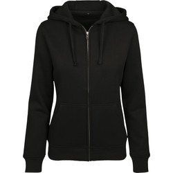textil Dame Sweatshirts Build Your Brand BY088 Black