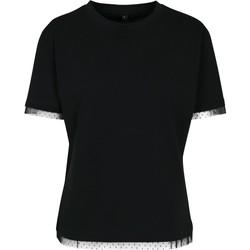 textil Dame T-shirts m. korte ærmer Build Your Brand BY124 Black