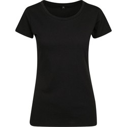 textil Dame T-shirts m. korte ærmer Build Your Brand BY086 Black