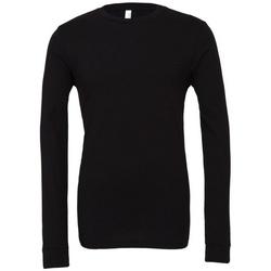 textil Langærmede T-shirts Bella + Canvas BE044 Black