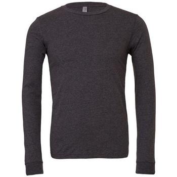 textil Langærmede T-shirts Bella + Canvas BE044 Dark Grey Heather