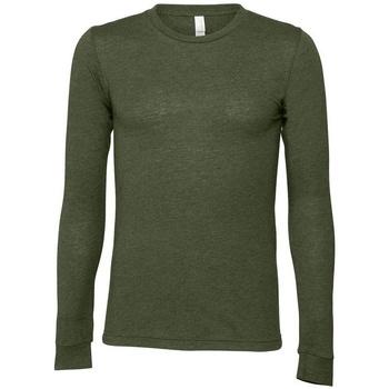 textil Langærmede T-shirts Bella + Canvas BE044 Military Green