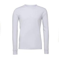 textil Langærmede T-shirts Bella + Canvas BE044 White