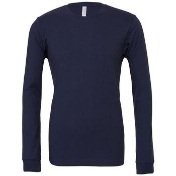 textil Langærmede T-shirts Bella + Canvas BE044 Navy